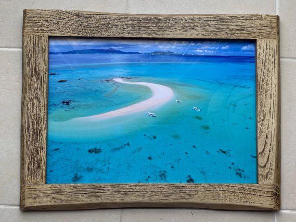 写真プリント古材フレームセット 幻の島